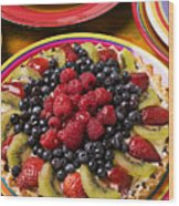 Fruit Tart Pie Wood Print