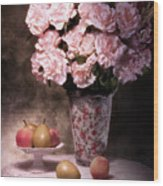 Fruit With Flowers Still Life Wood Print