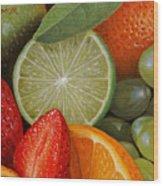 Fruitmix Wood Print