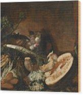 Fruits And Veggies Wood Print