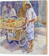 Fruitseller Jeddah Wood Print