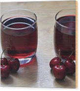 Fruity Cherry Wood Print by Tracy Hall