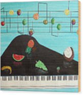 Fruity Tunes Wood Print