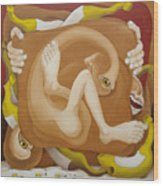Frustrated  2005 Wood Print