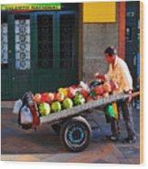 Fruta Limpia Wood Print