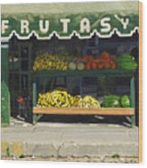 Frutas Y Wood Print by Michael Ward