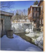 Frye's Measure Mill Wood Print by Eric Gendron