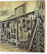 Ft. Apache General Store Wood Print
