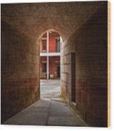 Ft. Point Hallway Wood Print