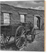 Ft. Union Ruins Wood Print