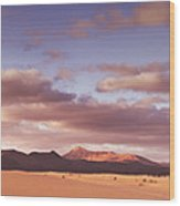 Fuerteventura Desert Landscape Wood Print