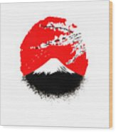 Fujiyama Wood Print