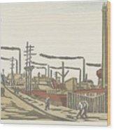 Fukagawa Bedrijventerrein  Maekawa Senpan  1945 Wood Print