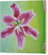 Full Bloom Wood Print by Missy Yake