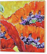 Full Bloom Poppies By Prankearts Fine Art Wood Print
