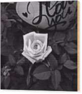 Full Blown Love Wood Print