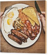 Full English Breakfast Wood Print
