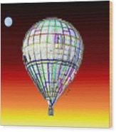 Full Moon Balloon Wood Print