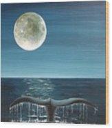 Full Moon Fluke Wood Print