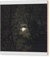 Full Moon In February Wood Print