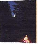 Full Moon Jamming Wood Print