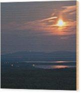 Full Moon Over Acadia I Wood Print