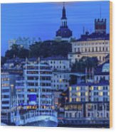 Full Moon Over The Katarina Church And Sodermalm In Stockholm Wood Print