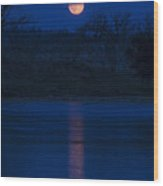 Full Moon Over The Tongue Wood Print