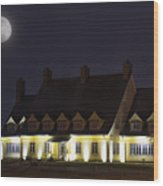 Full Moon Over Whalehead Wood Print