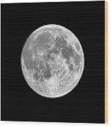 Full Moon Wood Print by Richard Newstead