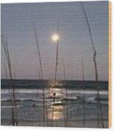 Full Moon Rising Wood Print