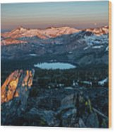 Full Moon Set Over Desolation Wilderness Wood Print