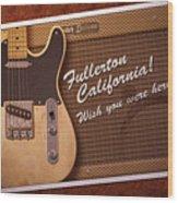 Fullerton Postcard Wood Print