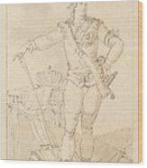 Fullfigure Portrait Of King Gustaf Wood Print