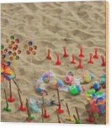 Fun At The Beach Wood Print