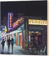 Fun City On The Boards Wood Print