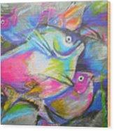 Fun Fish Wood Print