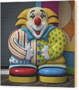 Fun House Clown Point Pleasant Nj Boardwalk Wood Print