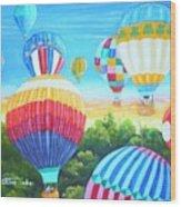 Fun With Balloons Wood Print