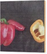 Fun With Vegetables Wood Print