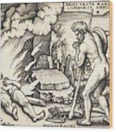Funeral Of Hercules Wood Print