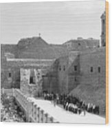 Funeral Procession In Bethlehem During 1934 Wood Print