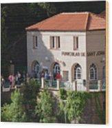 Funicular De Sant Joan Monserratt Wood Print