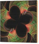 Funky Clover Wood Print