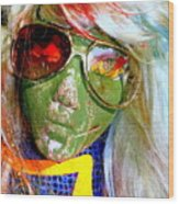 Funky Fiona Wood Print
