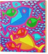 Funky Fish Wood Print