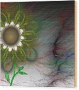 Funky Floral Wood Print