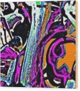 Funky Pop-14 Wood Print