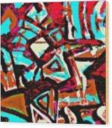 Funky Pop-6 Wood Print