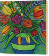 Funky Town Bouquet Wood Print
